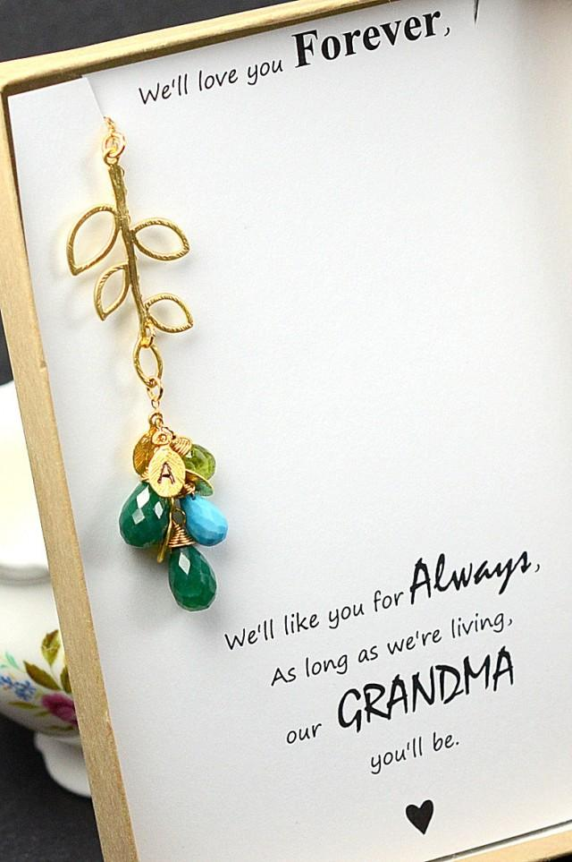 Personalized women 39 s jewelry grandma grandmother for Grandmother jewelry you can add to