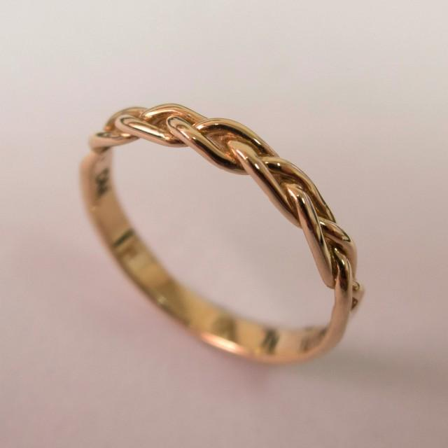 Diampnd Ring With Braided Band