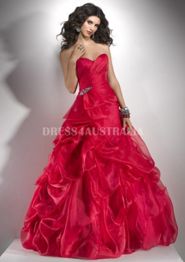 wedding photo - Buy Australia A-line Ruby Pick-up Skirt Organza Evening Dress/ Prom Dresses By FIT P4749 at AU$167.18 - Dress4Australia.com.au