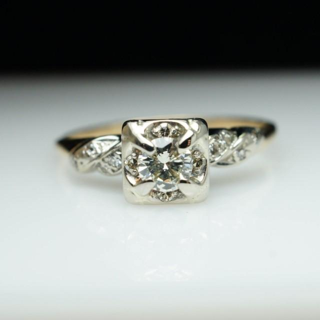 vintage engagement ring deco engagement ring