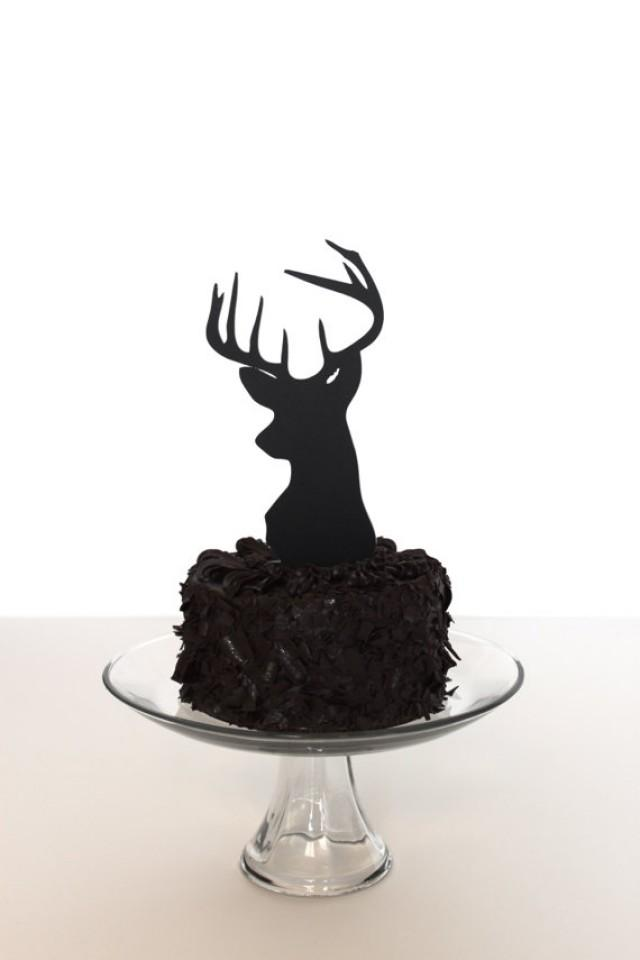 The Gallery For Gt Deer Head Wedding Cake Toppers