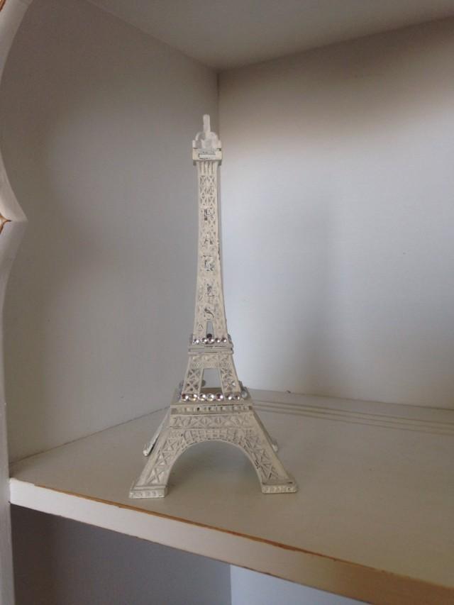 French gray eiffel tower decoration paris decor wedding for Eiffel tower decorations for the home