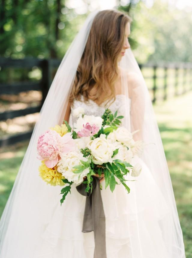 Southern Bride In A BHLDN Gown