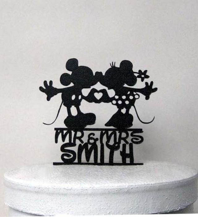 custom wedding cake topper mickey and minnie wedding with mr mrs name 2425988 weddbook