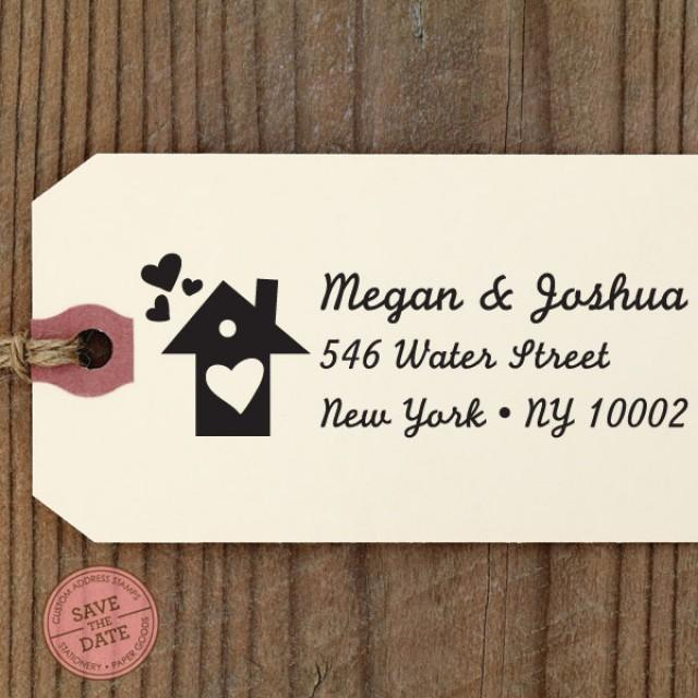 Custom address stamp eco friendly self inking gifts for wedding housewarming etsy labels - Best return gifts for housewarming ...