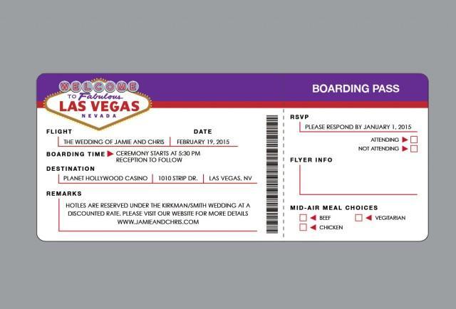wedding invitations las vegas vintage retro las vegas destination airline air plane ticket. Black Bedroom Furniture Sets. Home Design Ideas