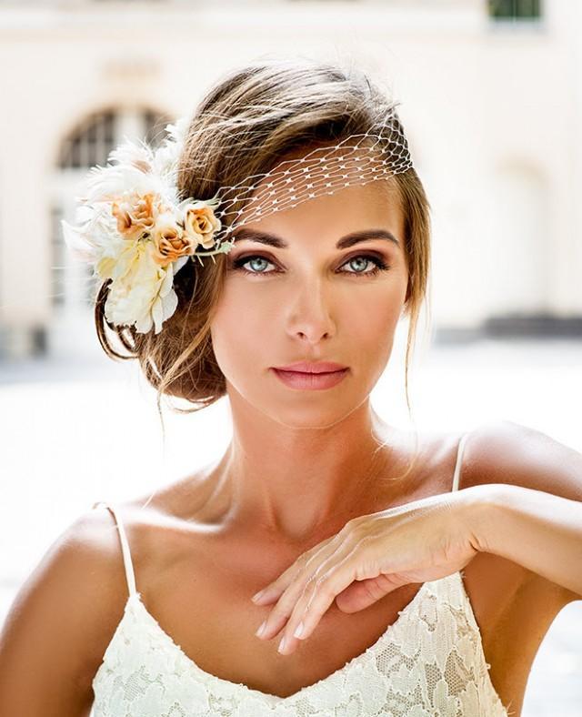 bandeau style birdcage veil 2016 bride hair jewelry