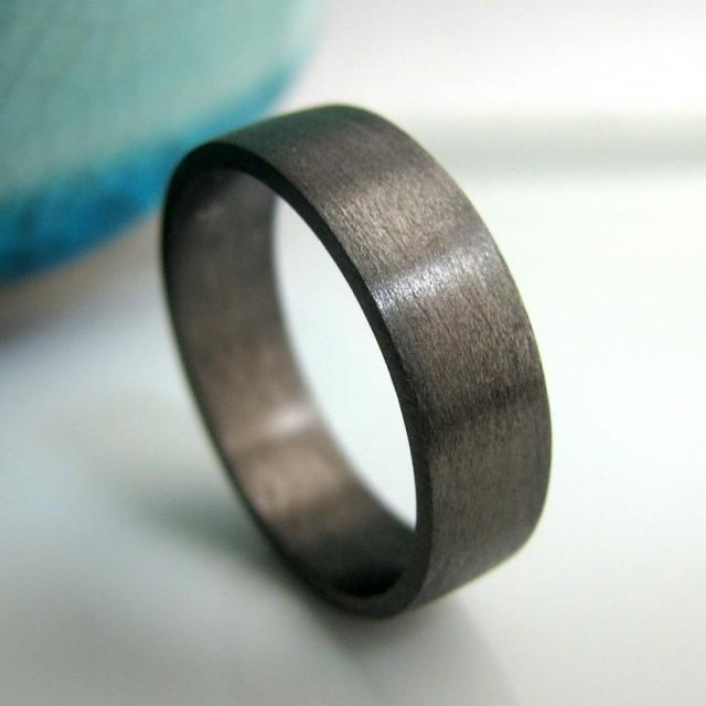 Wedding Band 5mm To 6mm Wide Black Gold Plated 925 Sterling Silver Engr