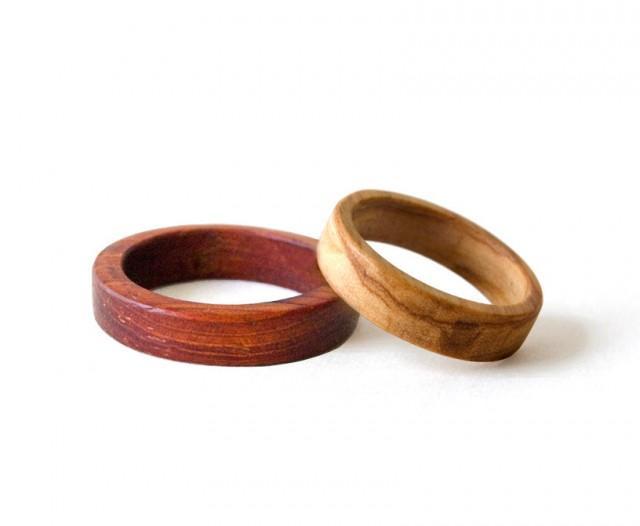 wooden wedding bands wooden rings set weeding rings set