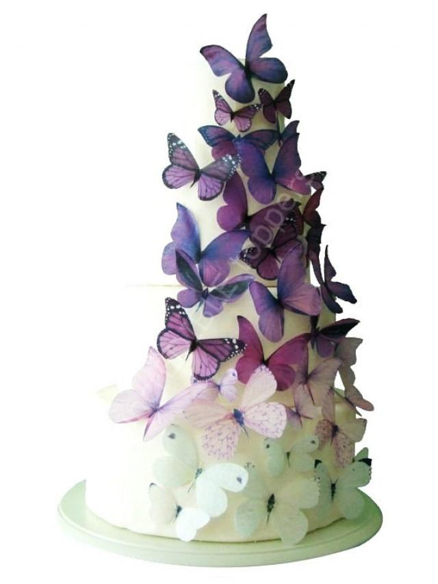Butterfly Edible Cake Images : Wedding CAKE TOPPER - Edible Cake Topper, Ombre Edible ...