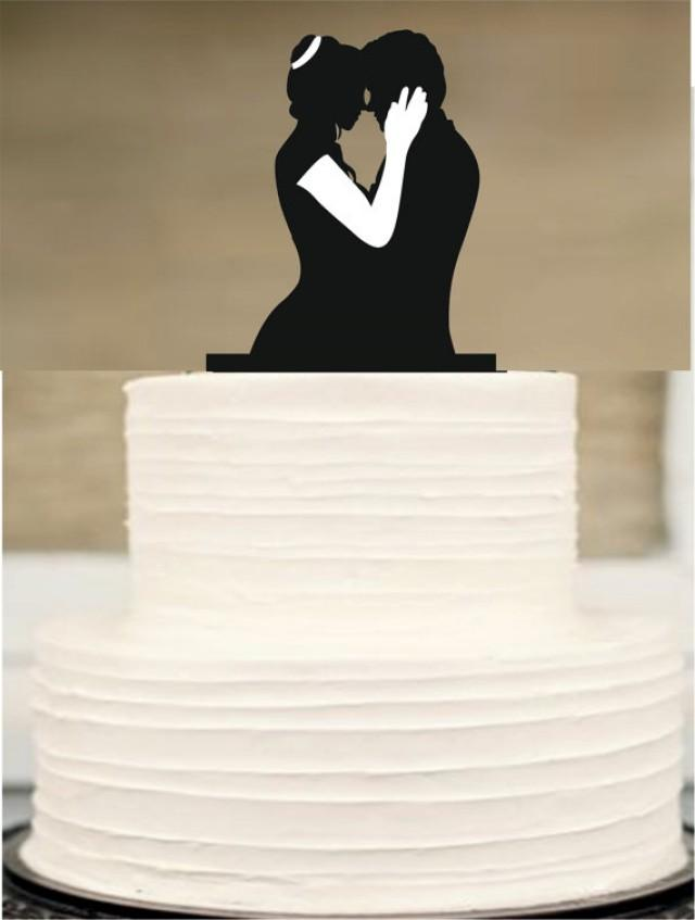 Silhouette Wedding Cake TopperMr And Mrs Wedding Cake TopperBride And Groom Cake Topper
