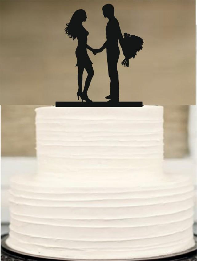 wedding photo - wediing silhouette cake topper, Bride and Groom Wedding Cake topper, Mr and Mrs Cake topper, initial Cake Topper,Unique Wedding Cake Topper