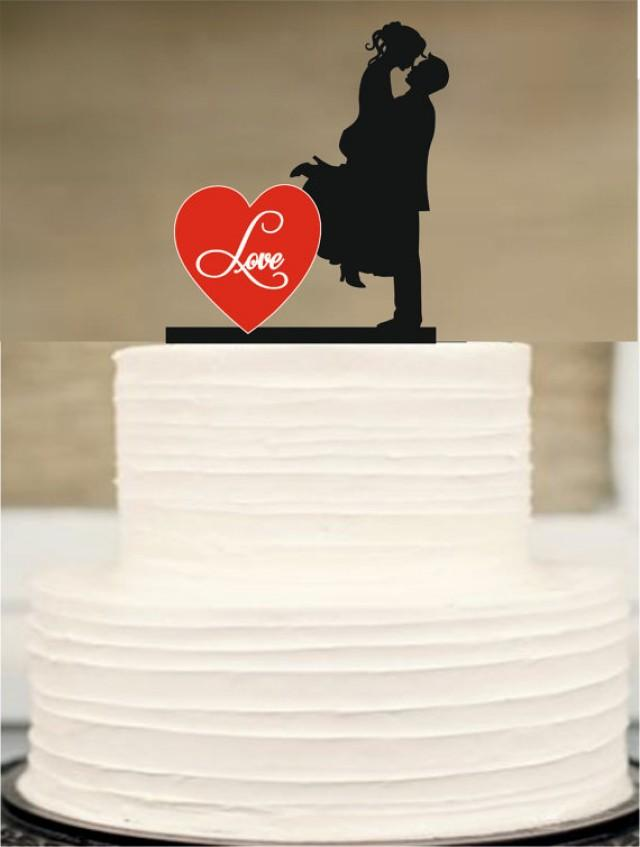 wedding photo - Bride and Groom wedding Cake topper,Silhouette Wedding Cake topper,Funny Wedding Cake Topper,initial Cake Topper,Unique Wedding Cake Topper