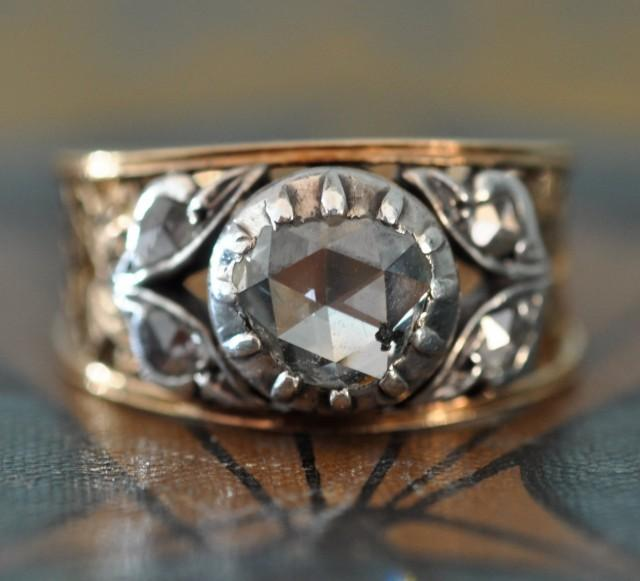 Unique Engagement Ring-Art Nouveau Engagement Ring-1800s ...