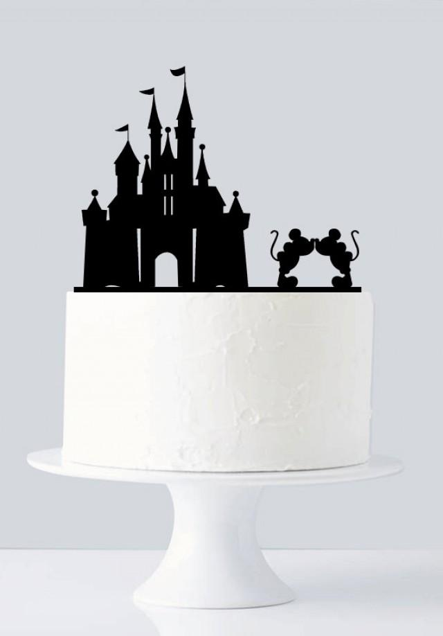 Personalised Disney Wedding Cake Toppers Castle Topper Mickey And Minnie