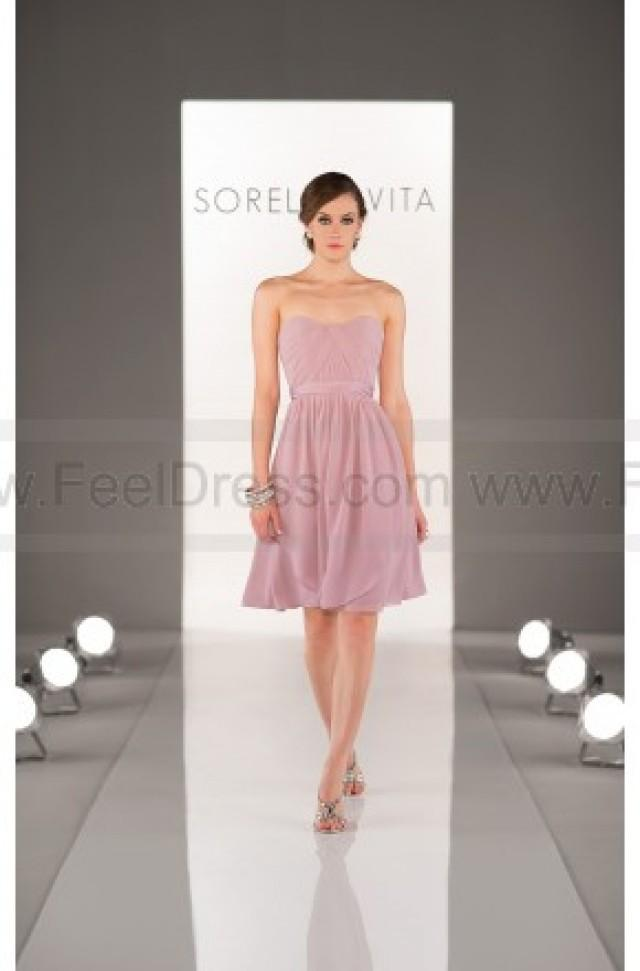 wedding photo - Sorella Vita Peach Bridesmaid Dress Style 8471