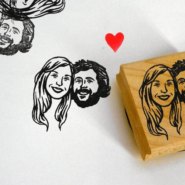 Personalized Gifts For Couple / Custom Portrait Stamps / Self Inking ...