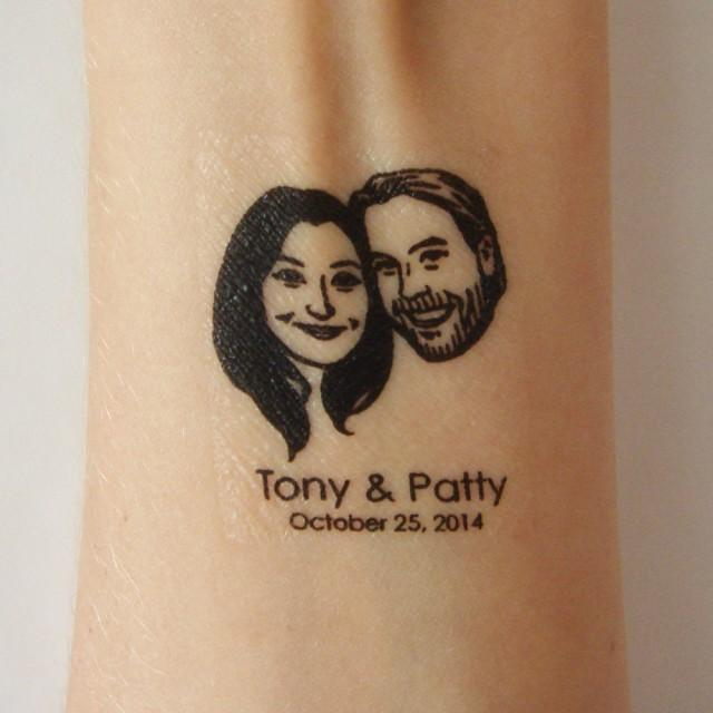 Personalized temporary tattoo favor custom wedding for Custom temporary tattoos that look real