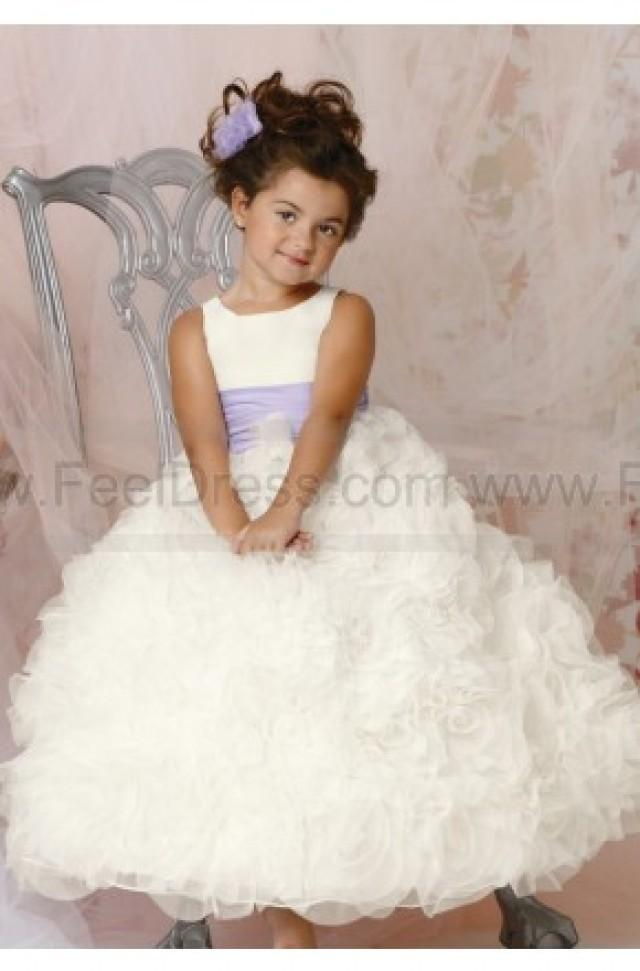 wedding photo - Rosette Skirt Gown By Jordan Sweet Beginnings Collection L294