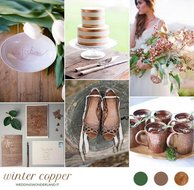 Segnaposto Matrimonio Invernale.Rame Per Un Matrimonio Invernale Wedding Wonderland Weddbook