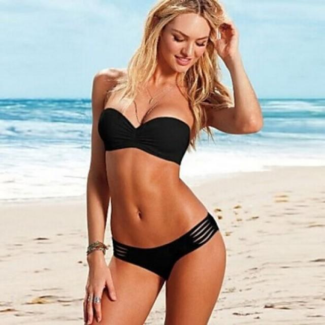wedding photo - 2015 Fashion Sexy Push Up With Chest Pad And Shoulder Strap Swimsuit Nz Two-Piece Bikini Swimwear Nz For Women