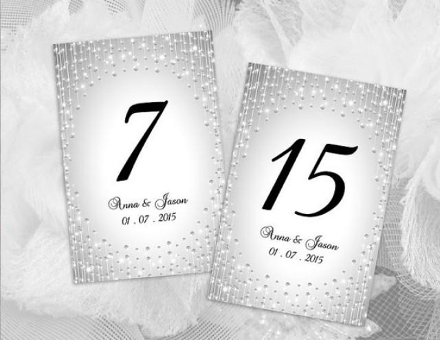 Diy printable wedding table number template 2430383 for Table numbers template for weddings