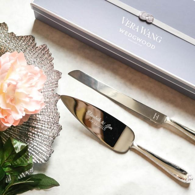 Wedgwood Vera Wang Infinity Cake Knife And Server Set