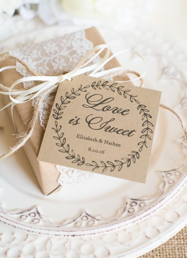 Wedding Favor Tags With Photo : Printable Wedding Favor Tags - DOWNLOAD Instantly - EDITABLE Text ...