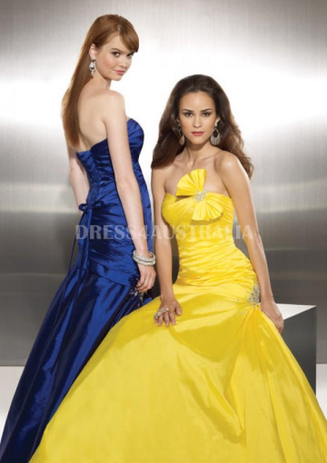 wedding photo - Buy Australia Sweetheart Bowknot Floor Elastic Woven Satin Corset Back Evening Dress/ Prom Dresses By MLGowns ML-8741 at AU$164.94 - Dress4Australia.com.au