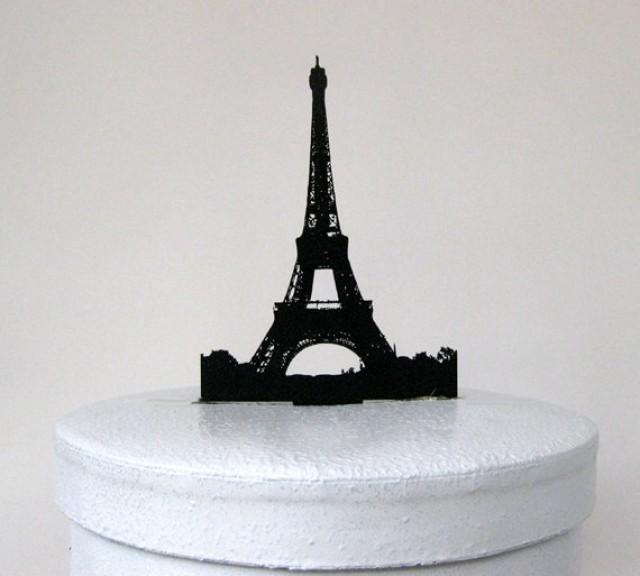 Plastic Eiffel Tower Cake Topper