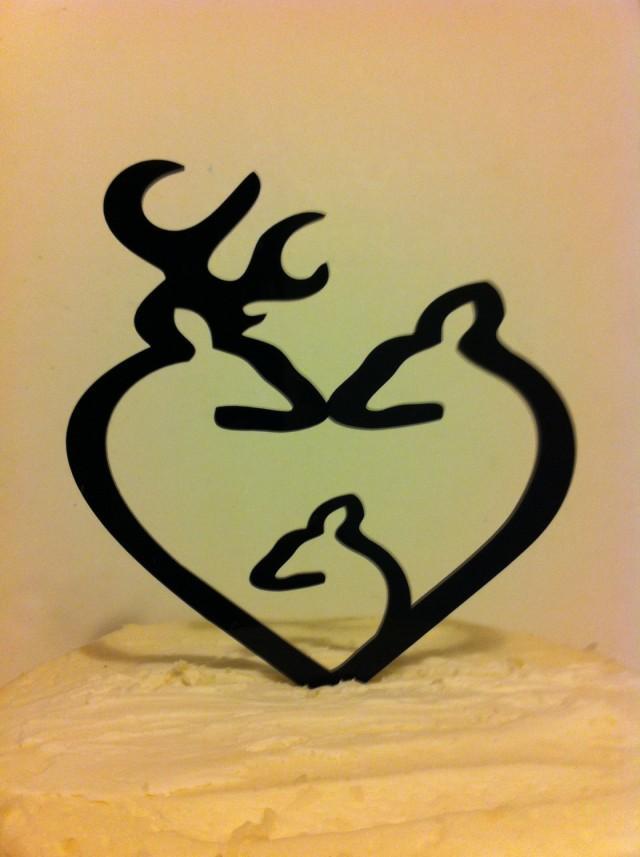 Deer Family Wedding Cake Topper