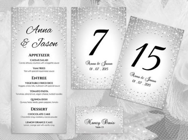 wedding photo - DIY Printable Wedding Table Package Deal Templates