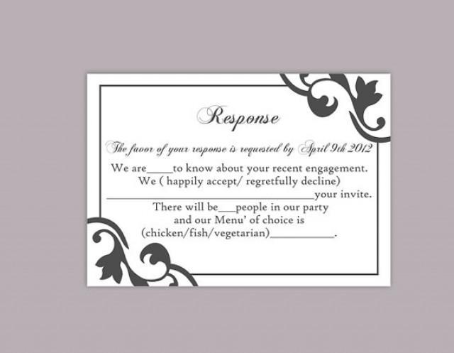 Diy wedding rsvp template editable text word file instant download rsvp template printable rsvp for Wedding rsvp templates