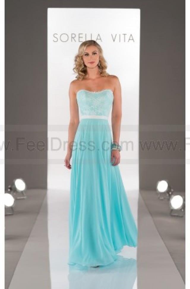 wedding photo - Sorella Vita Navy Bridesmaid Dress Style 8457