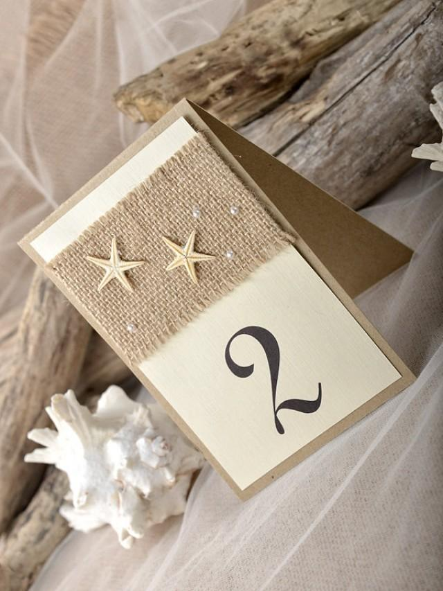 Beach Rustic Wedding Table Number Numbers For