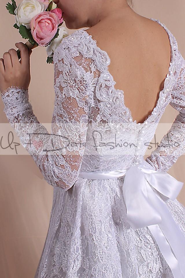 Lace short plus size reception dress wedding party for Plus size dress for wedding reception