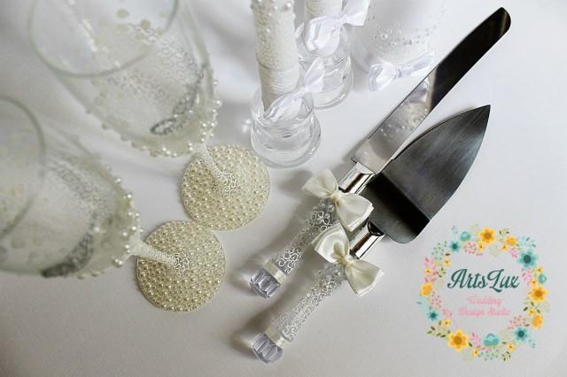 Wedding Cake Serving Set Wedding Cake And Knife Set Wedding Cake