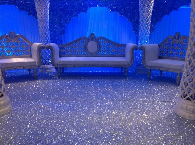 Non Slip GLITTER PU Leather Fabric Stage Carpet Wallpaper Or Glitter Aisle R