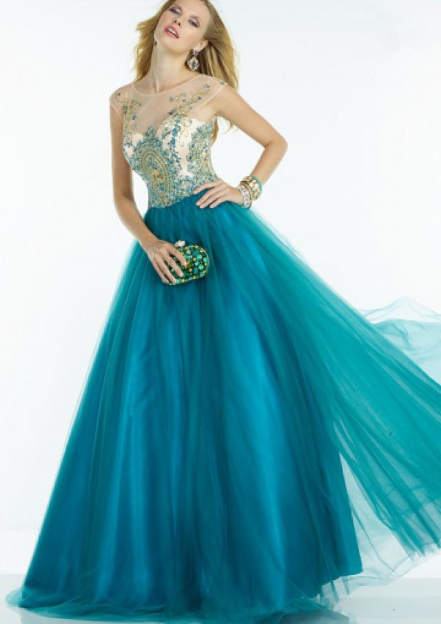 wedding photo - Buy Australia 2016 Ball Gown Scoop Neckline Beaded Tulle Floor Length Evening Dress/ Prom Dresses 6598 at AU$175.04 - Dress4Australia.com.au