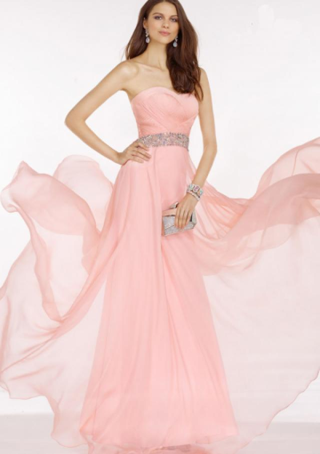 wedding photo - Buy Australia 2016 Pink A-line Strapless Ruched Beaded Organza Floor Length Evening Dress/ Prom Dresses 6604 at AU$172.79 - Dress4Australia.com.au