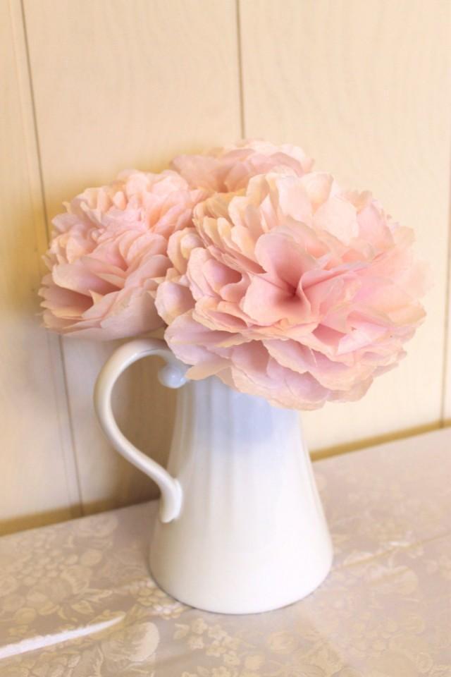 10 baby shower centerpiece flowers pink paper peonies 2433135