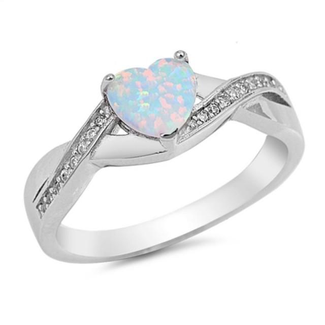 Crisscross Ring Fire Opal Cz