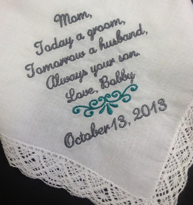 Wedding Gift To Mom From Groom : GROOM Handkerchief Hanky HankieFrom The GROOMMomMoGWedding ...