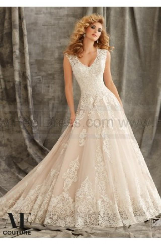 Mori lee bridal gown 1344 2434167 weddbook for Mori lee discontinued wedding dresses
