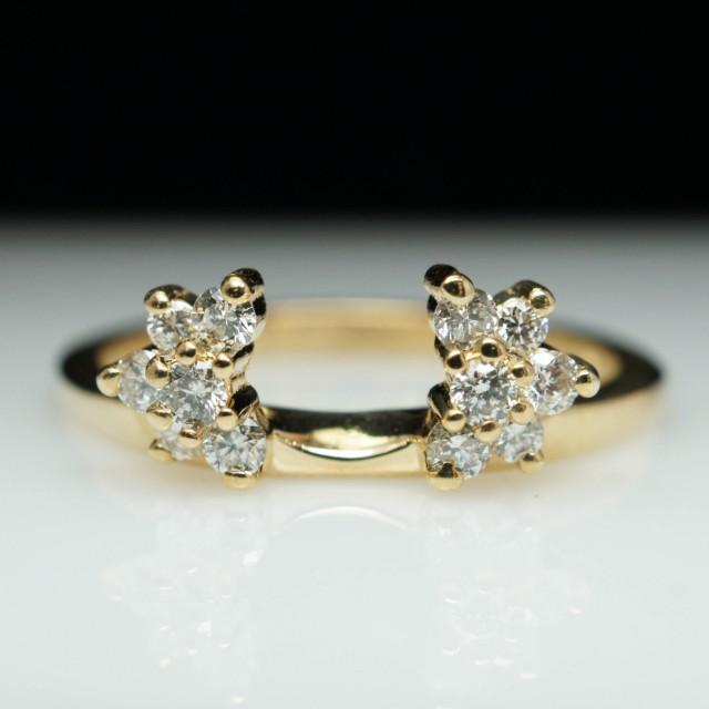 vintage estate 27ct engagement ring enhancer