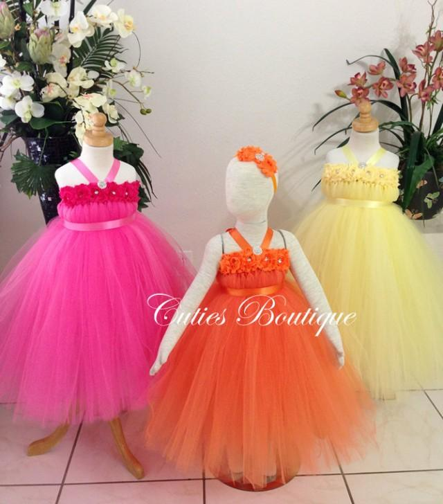 Flower girl dress wedding dress birthday holiday picture for 12 month dresses for wedding