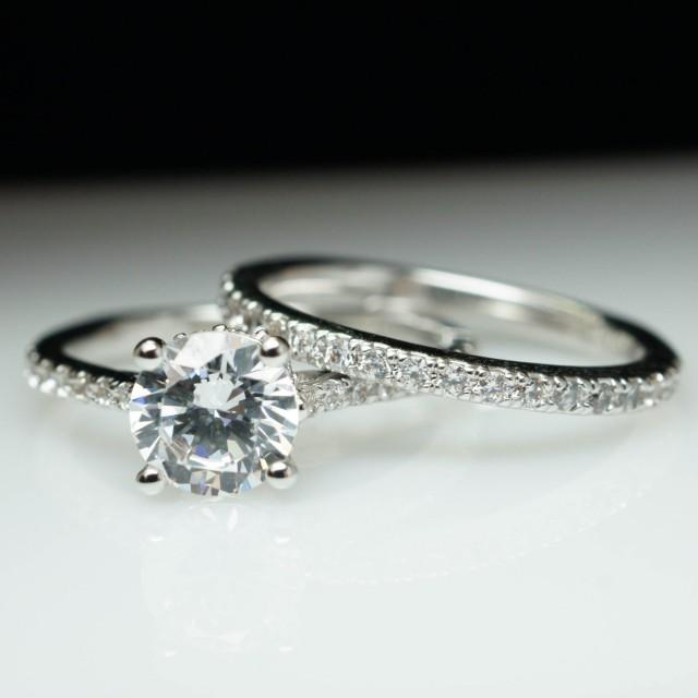 solitaire engagement ring matching wedding band