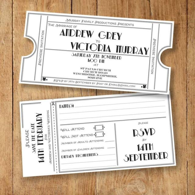 Wedding Invite RSVP Save The Date And Info Card Template – Wedding Information Card Template