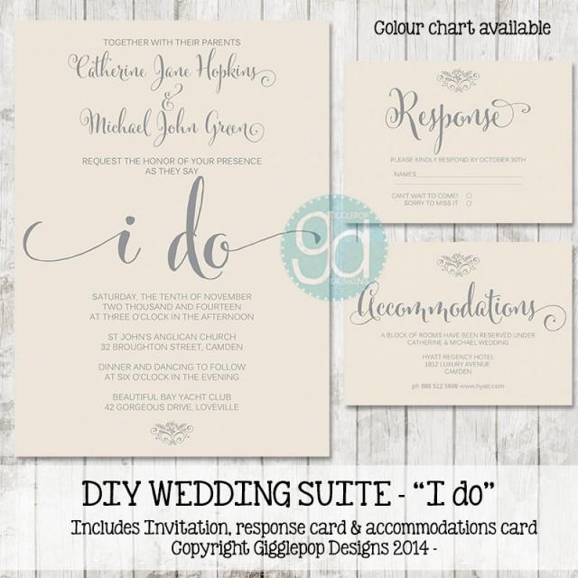 Invitation Printable Wedding Invitation Suite 2435655