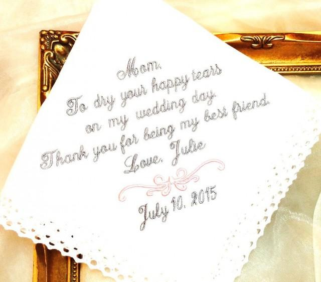 Wedding Day Gifts For My Bride : Of The Bride Handkerchief - To Dry Yor Happy Tears On My Wedding Day ...